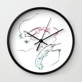 Shrimps dance Wall Clock