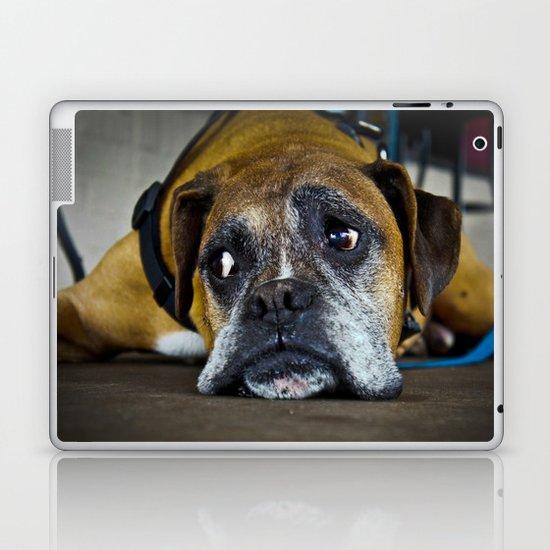 curious doggy Laptop & iPad Skin