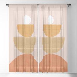 Abstraction Circles Balance Modern Minimalism 007 Sheer Curtain