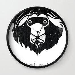 Lyonnel the Lion Wall Clock