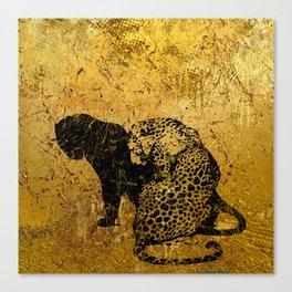 Gold Safari Canvas Print