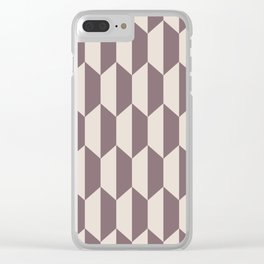 Classic Trapezoid Pattern 244 Beige Clear iPhone Case