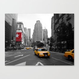 Intersection between Broadway and the Avenue of the Americas, New York City Canvas Print