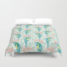 Tropical Pastels Duvet Cover