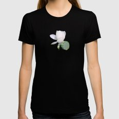 Lotus. LARGE Womens Fitted Tee Black