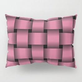 Large Dark Pink Weave Pillow Sham