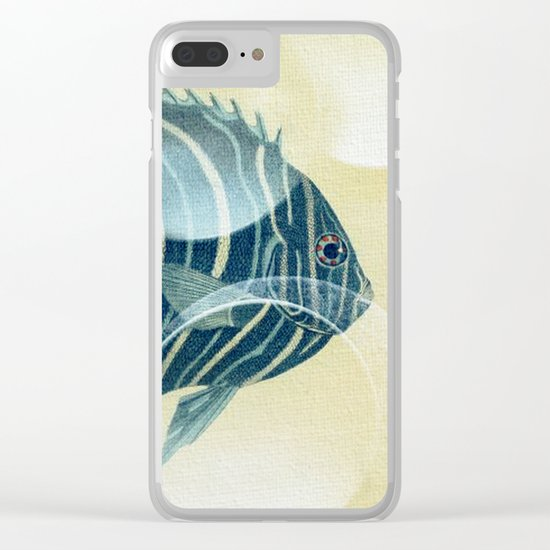 Fish Between Circles Clear iPhone Case