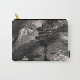 The Last Tree - black and white Carry-All Pouch