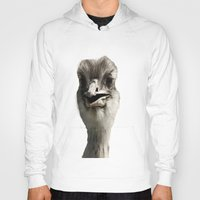 ostrich Hoodies featuring Ostrich by Raymond Earley