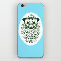 hedgehog iPhone & iPod Skins featuring hedgehog by barmalisiRTB
