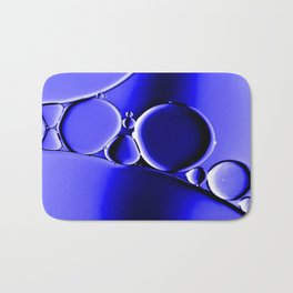 Bubbles In Blue Bath Mat