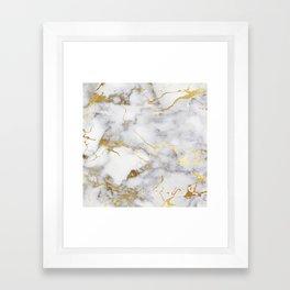 Italian gold marble Framed Art Print