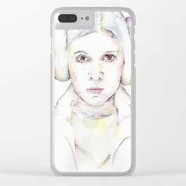 Princess Leia Clear iPhone Case
