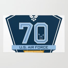 The Official Air Force 70th Anniversary Logo Rug