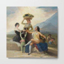 "Francisco Goya ""The Grape Harvest or Autumn"" Metal Print"