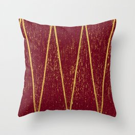 Burgundy Gold Throw Pillow