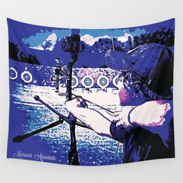 Young Archer and Targets Wall Tapestry