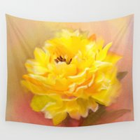 dahlia Wall Tapestries featuring Dahlia by Mary Timman