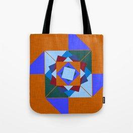 wind rose orange #homedecor #midcentury Tote Bag