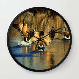Canadian Geese: Three's a Crowd Wall Clock