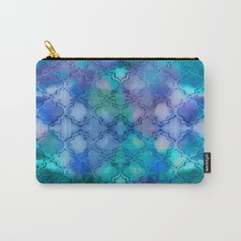 Blue Honeycomb Carry-All Pouch