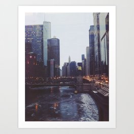 Chicago in Winter Art Print