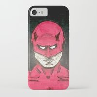 daredevil iPhone & iPod Cases featuring Daredevil by bergertime