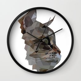 Geometric Cat Digitally Created Wall Clock