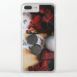 Oreo Cookies Xmas Flatlay Clear iPhone Case