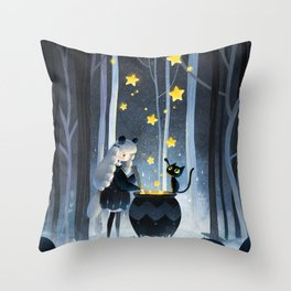 Little witch Throw Pillow