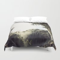 yosemite Duvet Covers featuring Yosemite Waterfalls by Anshil Alan Popli