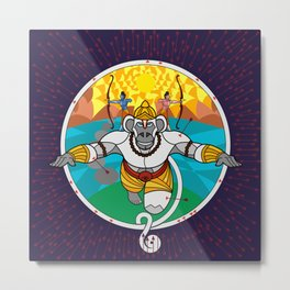 Hanuman Vantage Metal Print