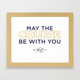 Purple & Gold: May the Course be With You Cross Country Framed Art Print