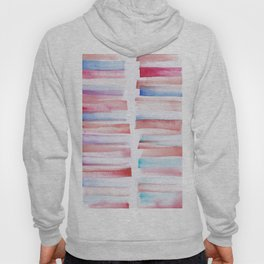 13 | 181101 Watercolour Palette Abstract Art | Lines | Stripes | Hoody