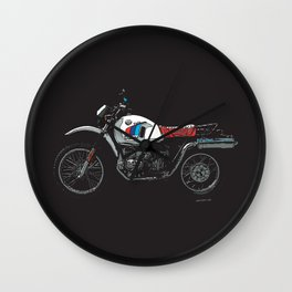BMW R80GS PD | DARK Wall Clock