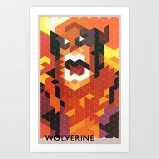 Geometric Wolverine Art Print
