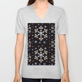Let it Snow Black collection by studio M & Co Unisex V-Neck