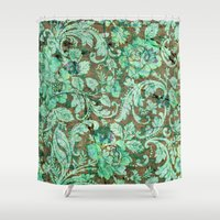 flower pattern Shower Curtains featuring Flower pattern by nicky2342