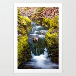 Ozark Mountain Stream Waterfall - Northwest Arkansas Art Print