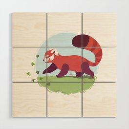 Red Panda cub Wood Wall Art