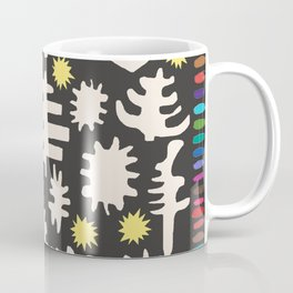 Rainbow Woodland Black/White Coffee Mug