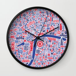 London City Map Poster Wall Clock
