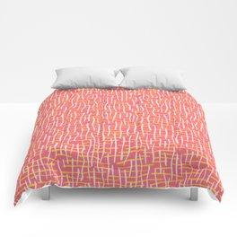Pink Woven Burlap Texture Seamless Vector Pattern Comforters