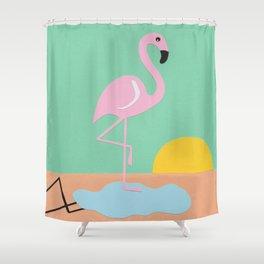 Flamingo Herbert Shower Curtain