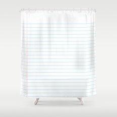 Notebook Paper Digital Watercolor School Chalk Shower Curtain