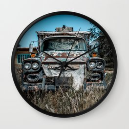 Apache Pickup Camper Relic of Route 66 in Tucumcari New Mexico Wall Clock