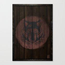 Wolf Shield Canvas Print