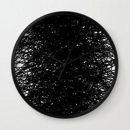 Static Abstract Dense Black & White Wall Clock