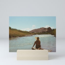 On The Rio Grande Mini Art Print