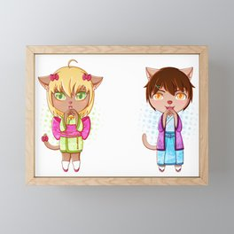 Catsumi and Catsuragi Framed Mini Art Print
